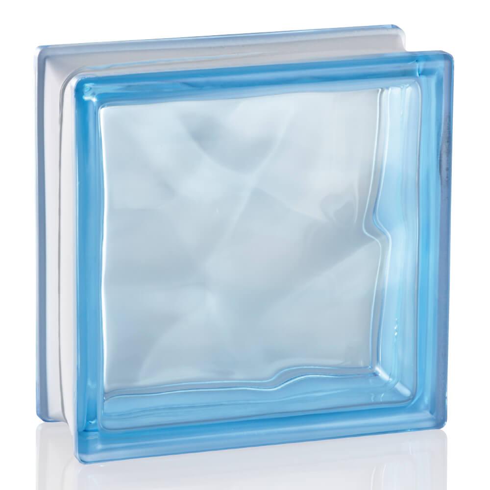ガラスブロック クリスタル マリンブルー