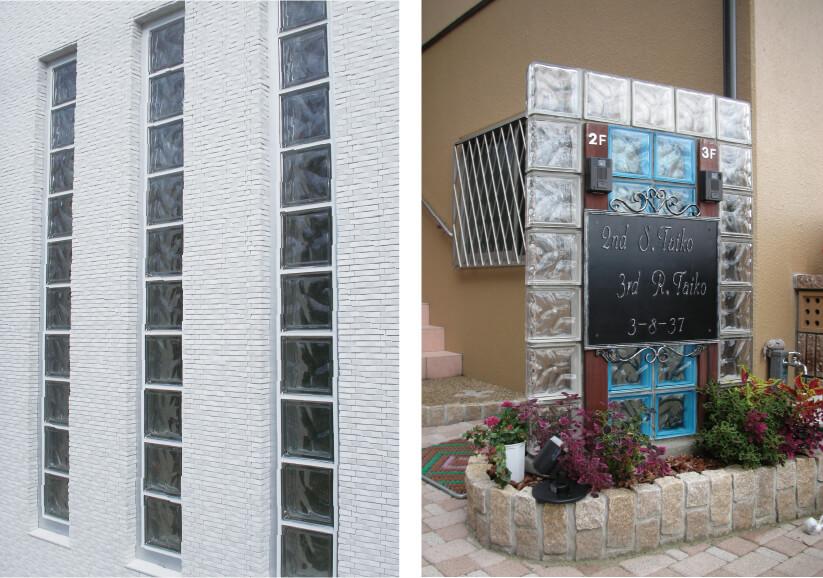 ガラスブロック施工例