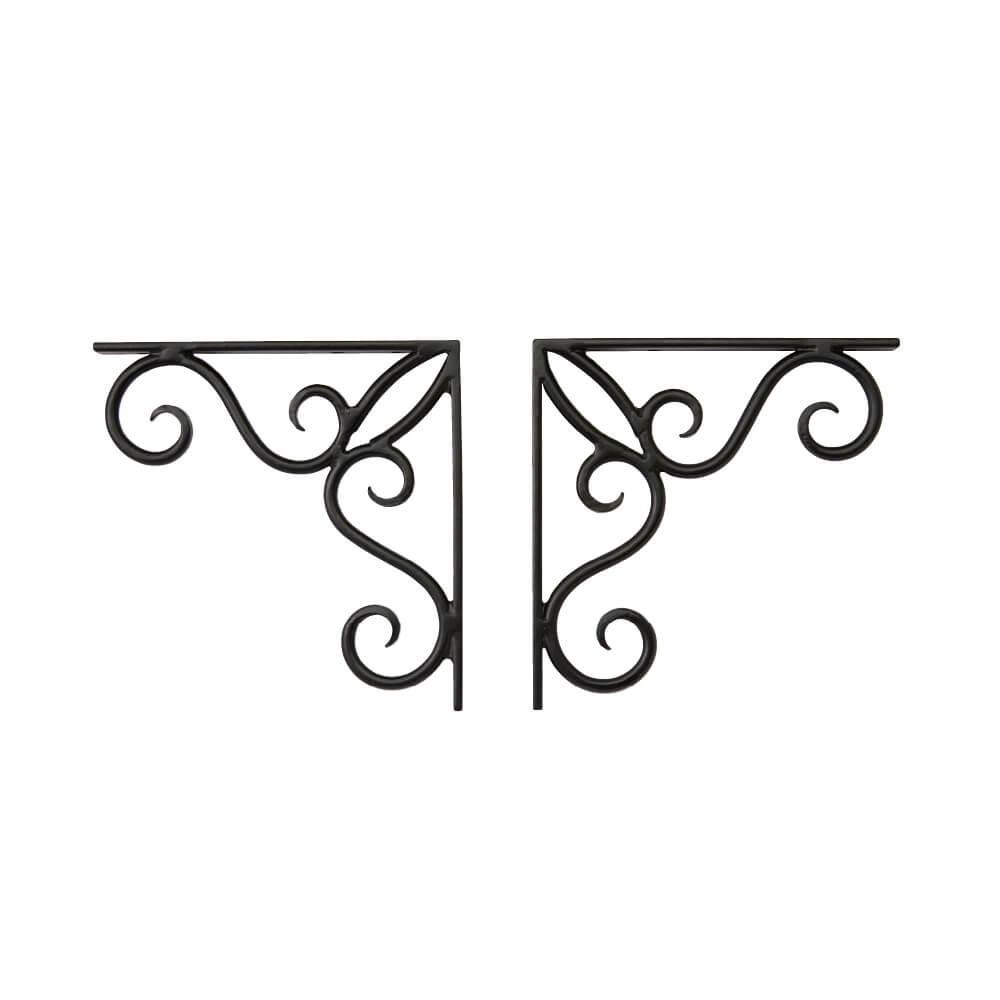 棚受け用L字アングル(壁面固定)(左右1台ずつで1セット) JHIA-V05