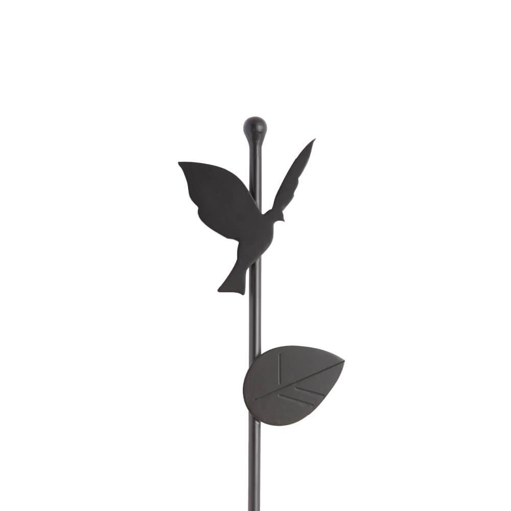 植栽ポール 小鳥(アルミ製)